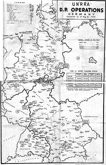 Karte von DP-Camps